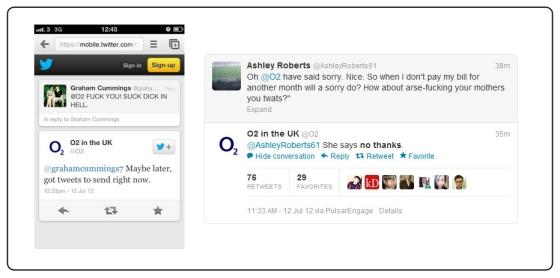 O2 Twitter Responses