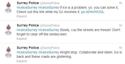 Surrey Police #IceIceSurrey