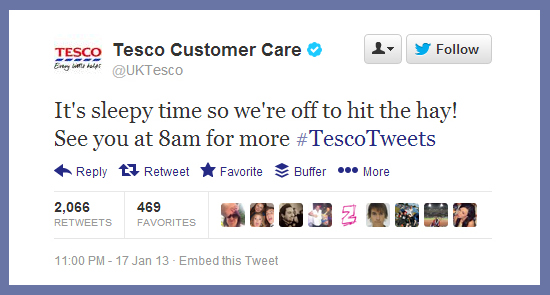 Tesco's Handling of Twitter is Neigh Joke