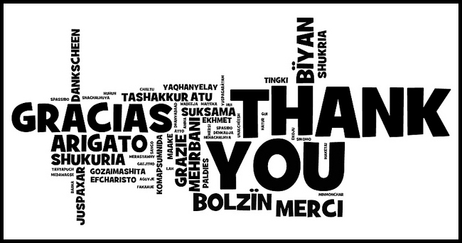 Thank You in 58 Languages
