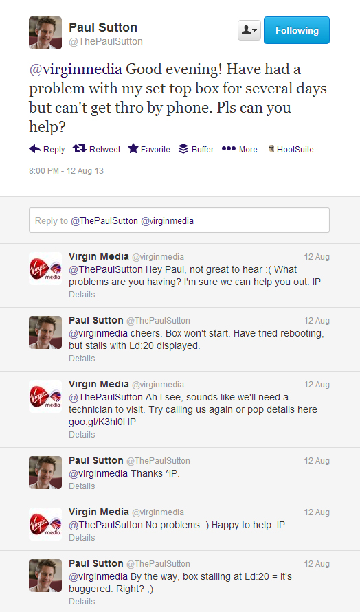 Virgin Media on Twitter