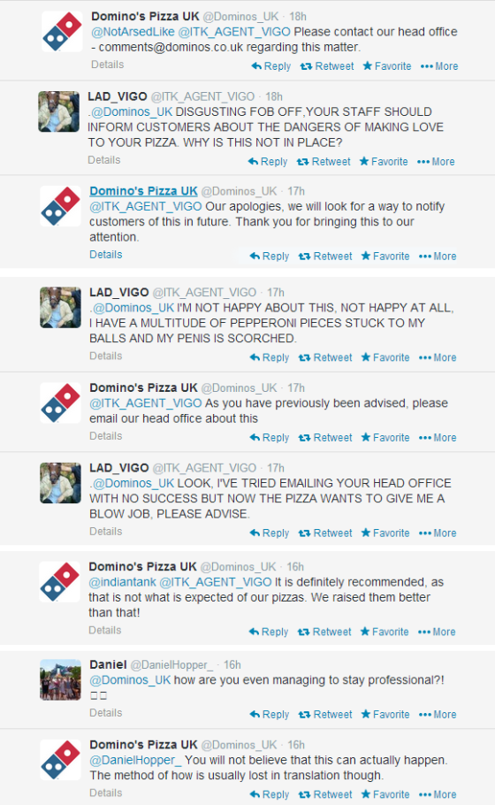 Dominos Twitter Troll